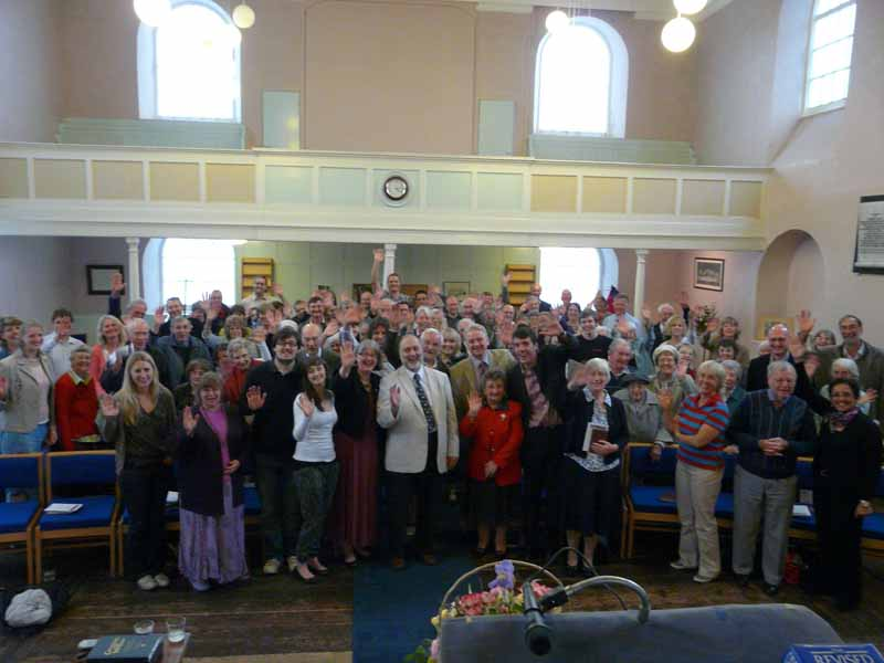 Congregation at commissioning service, 5 June 2011